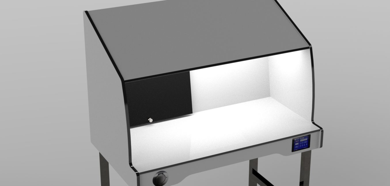 New STERIGENE manual inspection table with pre-qualified LED lighting