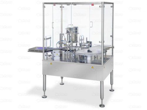 Remplissage, fermeture et sertissage automatique de flacons
